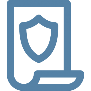 legal protection document icon
