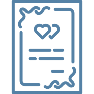 legal marriage document icon