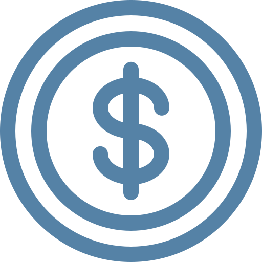 dollar sign money icon in circles