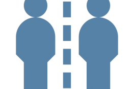 two people separated icon